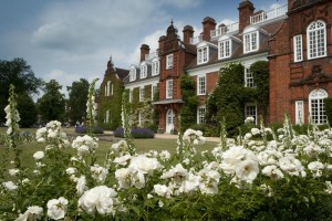 Sidgwick Hall through white roses