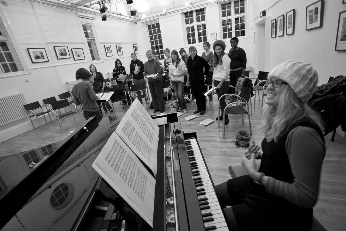 Musicians rehearsing in The Old Labs