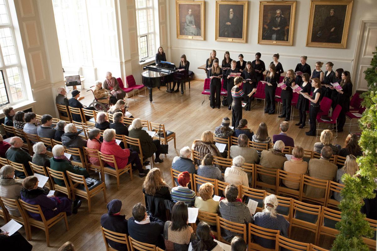 Choir performing in Clough Hall