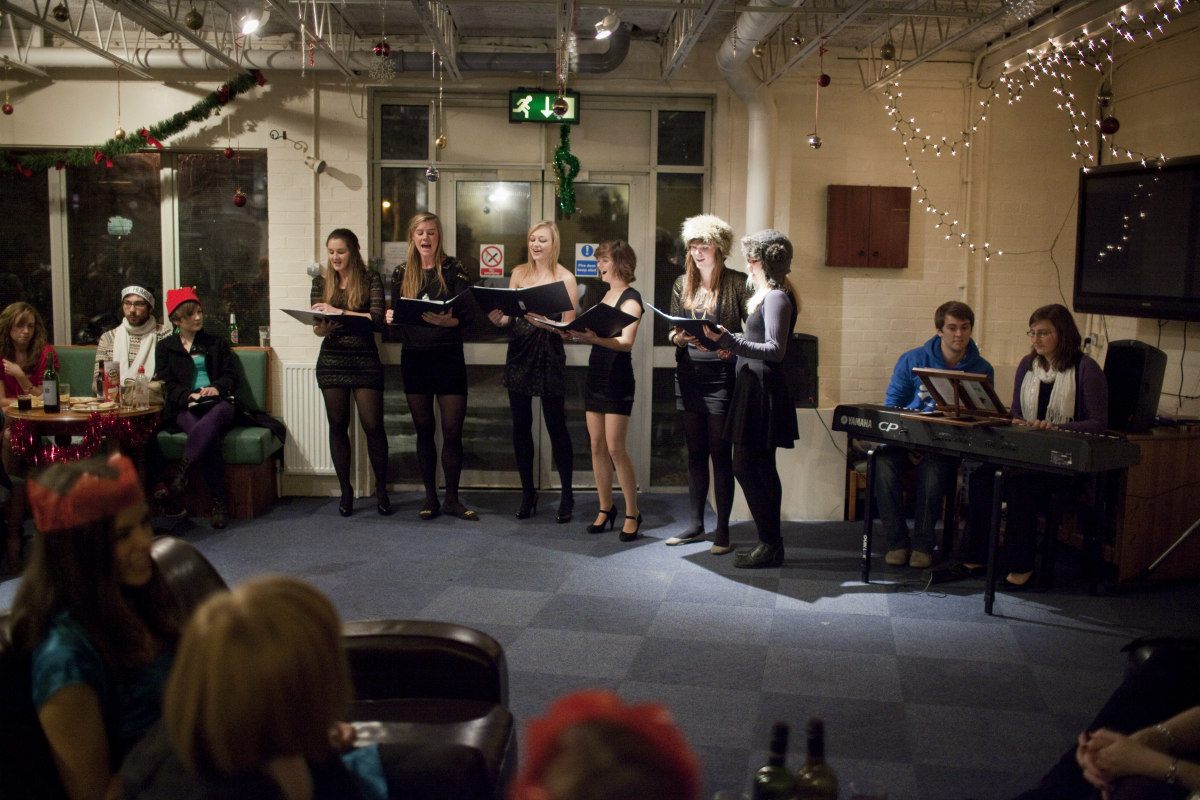 Singers singing