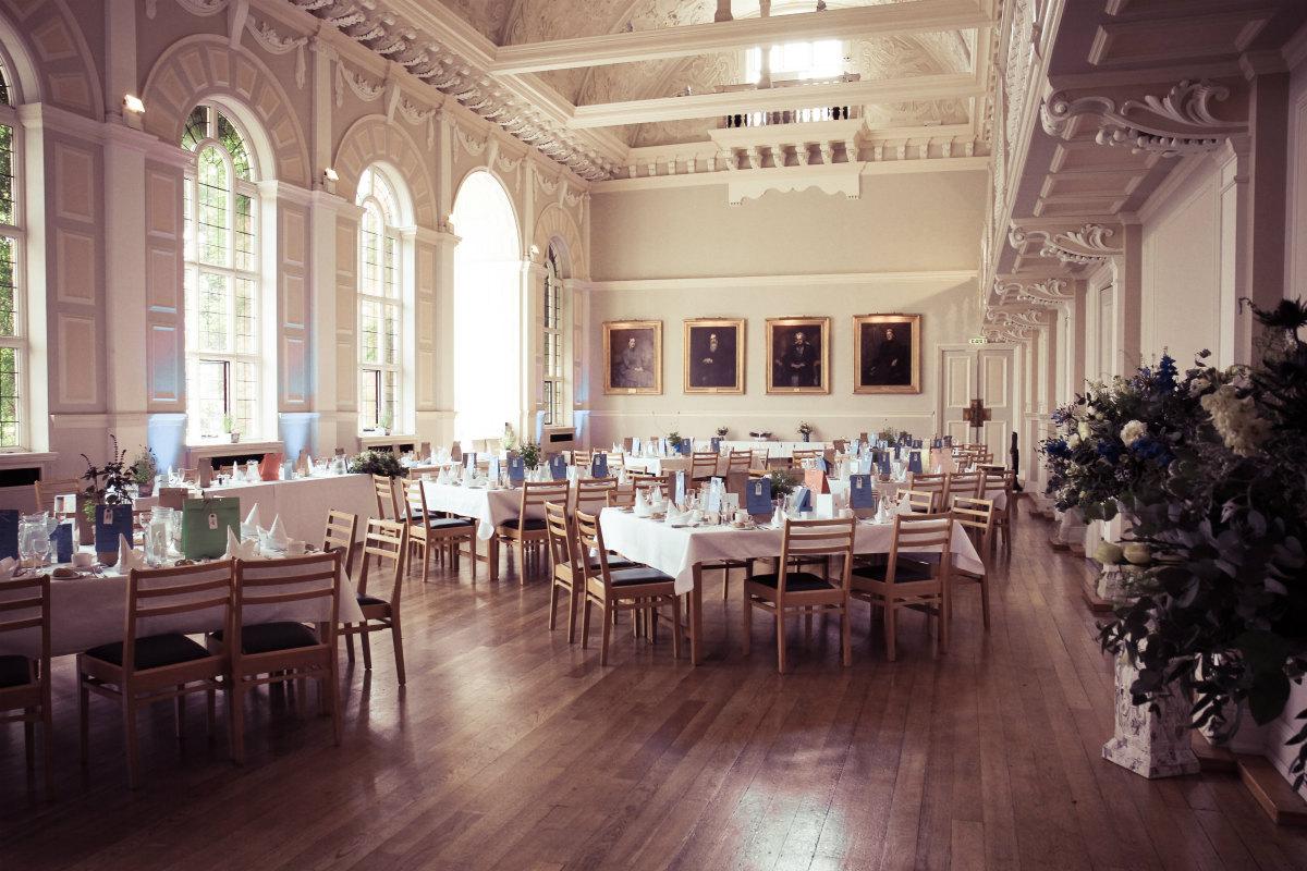 Clough Hall ready for a wedding