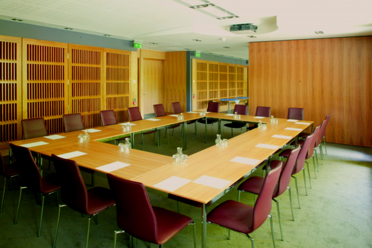 A photo of the Lucia Windsor Room boardroom style