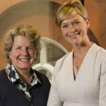 Julie Etchingham and Sandi Toksvig