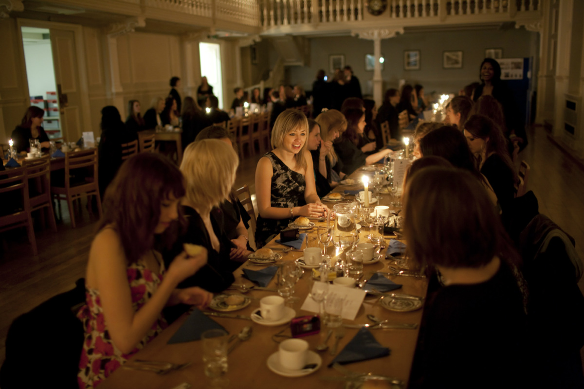Formal Hall by candlelight