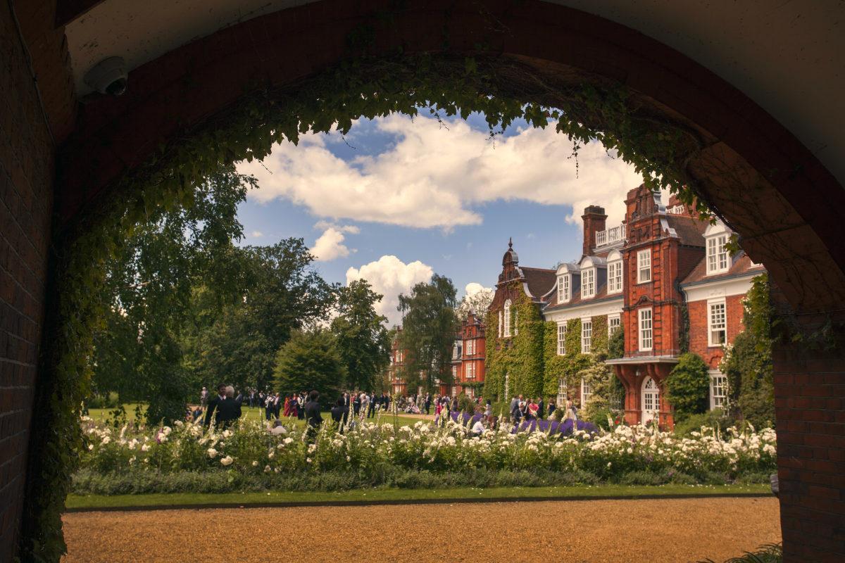 Rose Garden view through Pfeiffer Arch