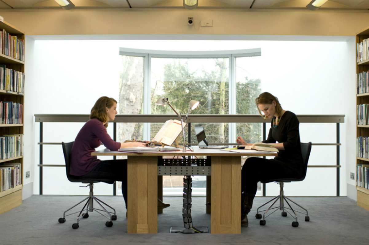 Students working at desk