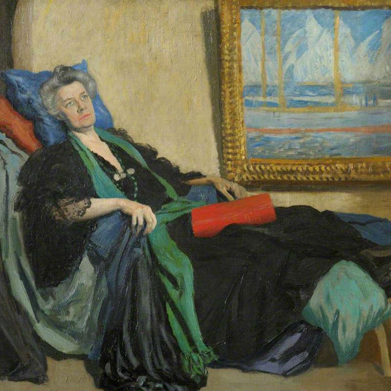 Portrait of Jane Ellen Harrison by Augustus John