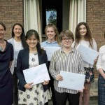 A photograph of the Essay Prizewinners