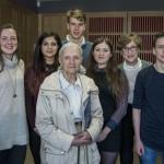 Jenifer Glynn with conference students