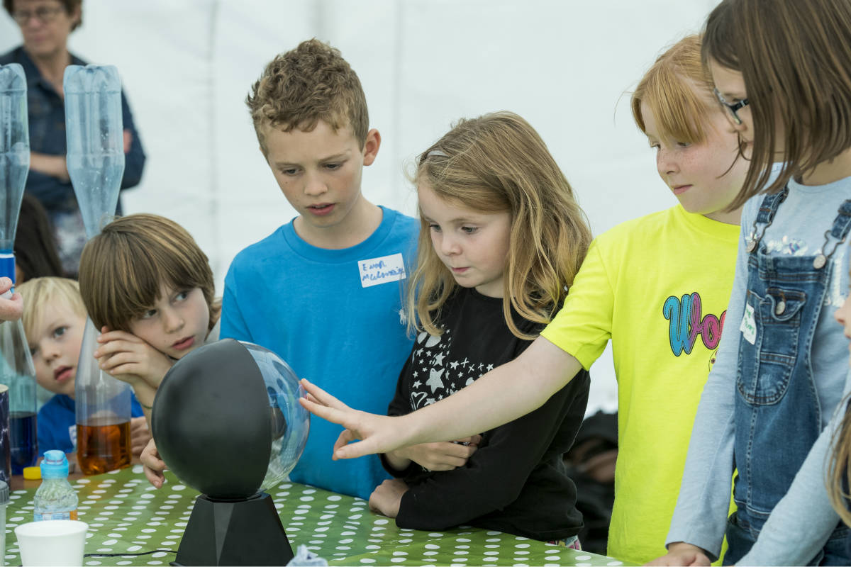 Children enjoying the science experiments