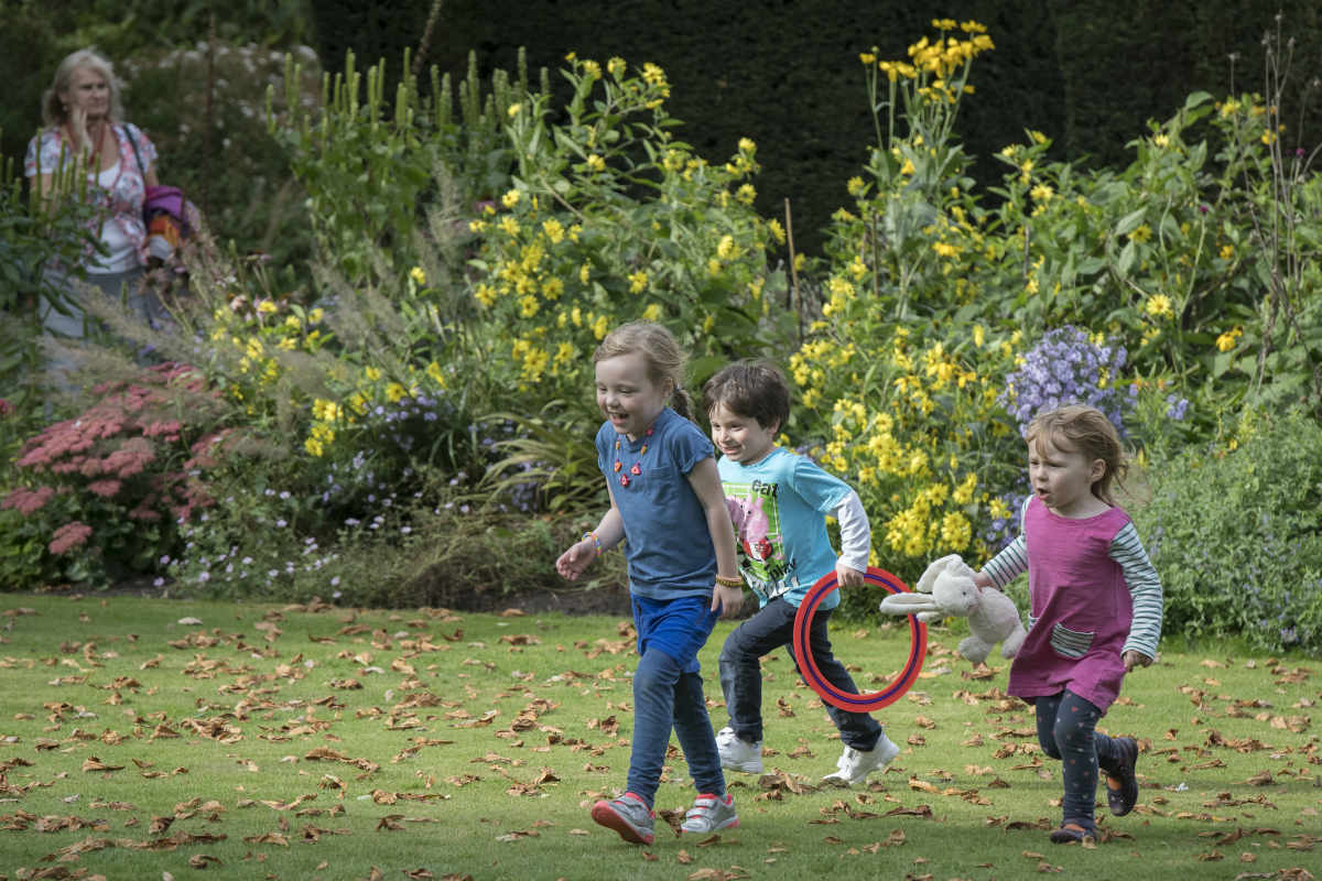 Children playing in the gardens