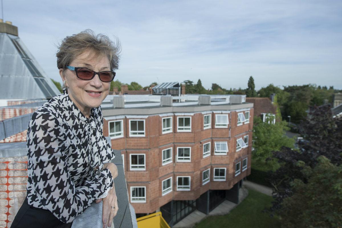 Professor Dame Carol Black on the roof of Strachey