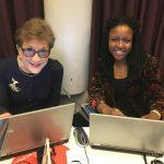 Principal Dame Carol Black with Olivia, JCR Access Officer