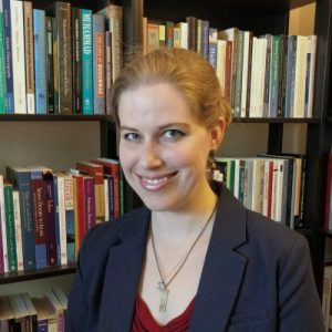 Photo of Dr Elise Burton, Junior Research Fellow