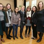 Marin Alsop with Newnham students and academics