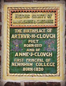 Birthplace of Anne Jemima Clough and Arthur Hugh Clough