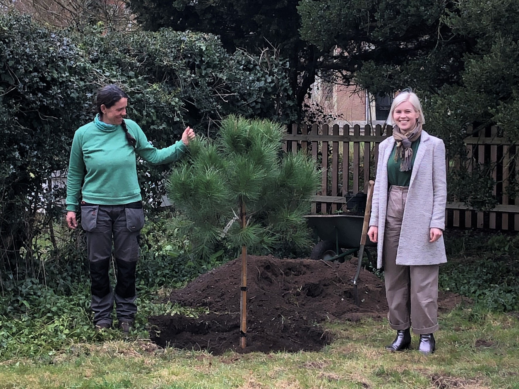 Planting The First 150th Tree March 2021